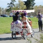 Wedding on a Surrey Quadricycle Bike Canada