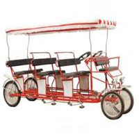 Triple Bench Quadricycle Surrey Bike
